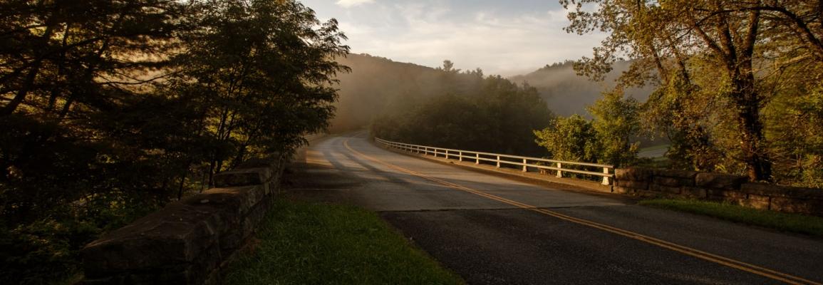 Rural scene off the Blue Ridge Parkway